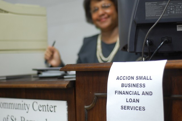 Small business loans | Accion set up a table at the communit… | Flickr